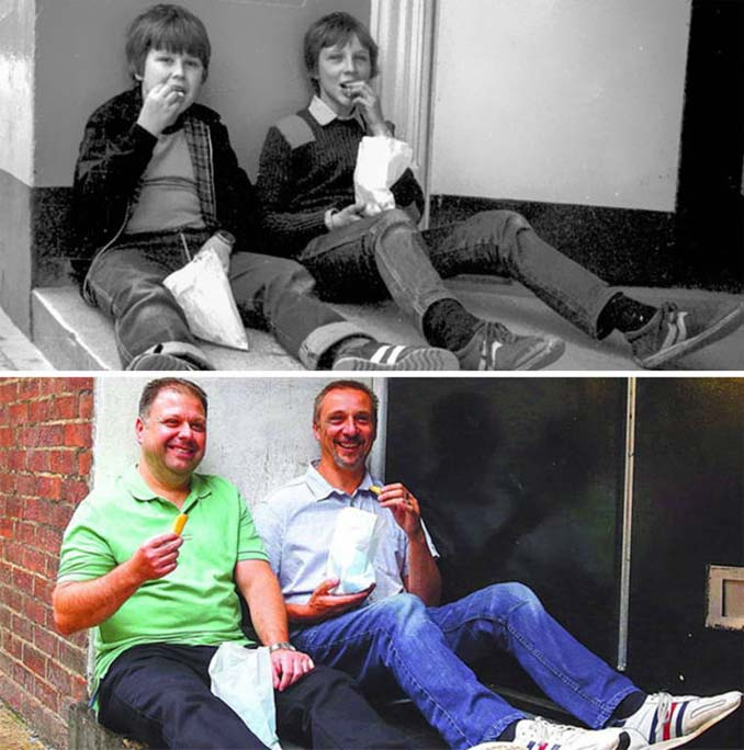 Επέστρεψε στην πόλη του για να φωτογραφίσει μετά από 40 χρόνια τους ίδιους ανθρώπους στην ίδια πόζα (23)
