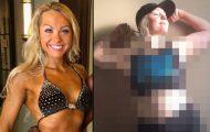 Γυναίκα bodybuilder δείχνει το κανονικό σώμα της (1)