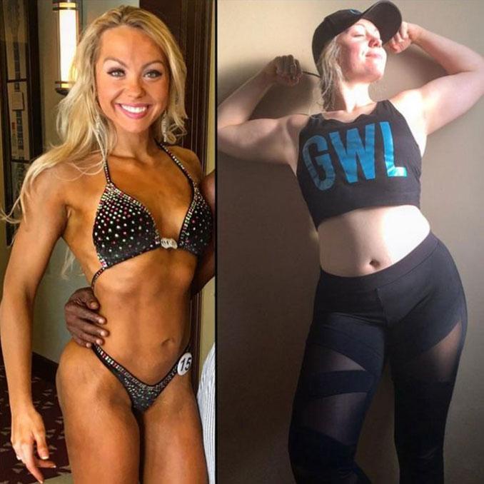 Γυναίκα bodybuilder δείχνει το κανονικό σώμα της (2)