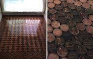 Χρησιμοποίησε 13.000 κέρματα για να ανακαινίσει ένα παλιό πάτωμα (14)