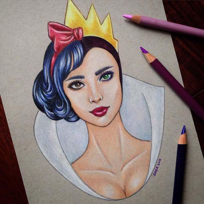 Αυτή η καλλιτέχνις ενώνει τους ήρωες της Disney με τους κακούς (2)
