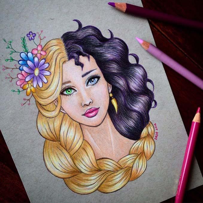 Αυτή η καλλιτέχνις ενώνει τους ήρωες της Disney με τους κακούς (5)