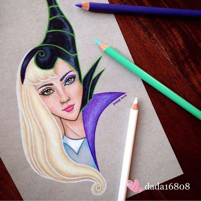 Αυτή η καλλιτέχνις ενώνει τους ήρωες της Disney με τους κακούς (6)