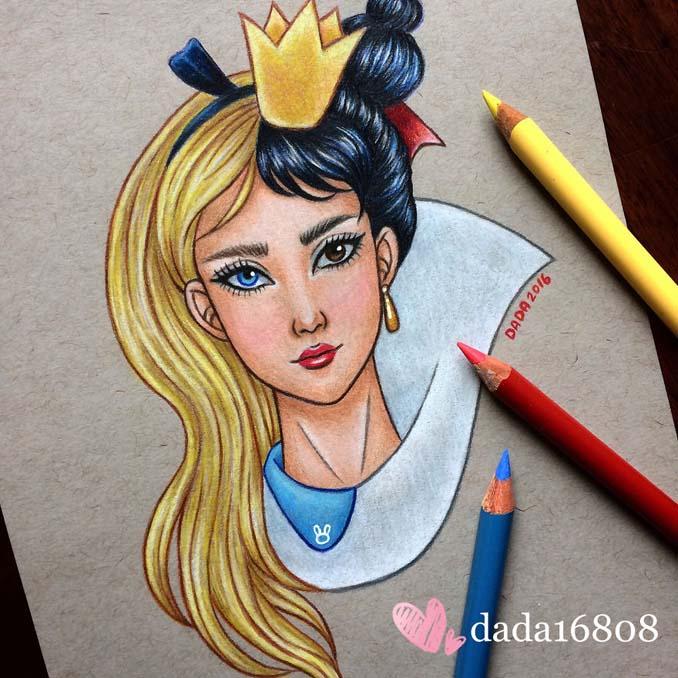 Αυτή η καλλιτέχνις ενώνει τους ήρωες της Disney με τους κακούς (7)