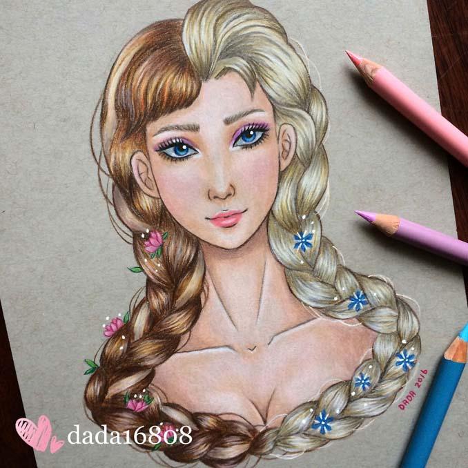 Αυτή η καλλιτέχνις ενώνει τους ήρωες της Disney με τους κακούς (12)