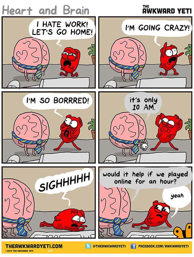 Καρδιά vs Μυαλό: Ξεκαρδιστικά σκίτσα για την αιώνια μάχη μέσα μας (5)