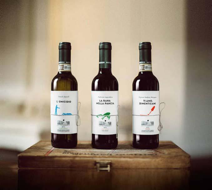 Μπουκάλια κρασιού με μικρές ιστορίες στην ετικέτα (3)