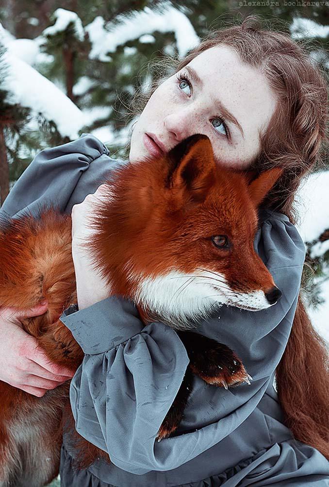 Παραμυθένια πορτραίτα με κοκκινομάλλες και μια κόκκινη αλεπού (2)