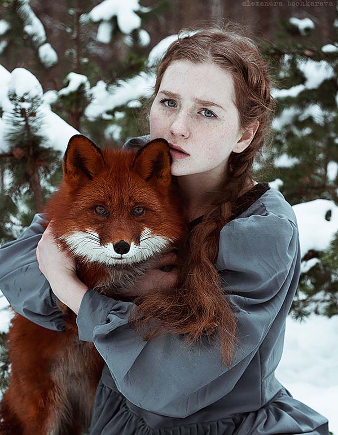 Παραμυθένια πορτραίτα με κοκκινομάλλες και μια κόκκινη αλεπού (3)