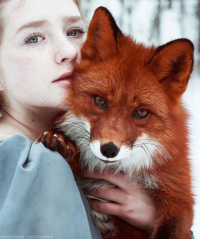 Παραμυθένια πορτραίτα με κοκκινομάλλες και μια κόκκινη αλεπού (4)
