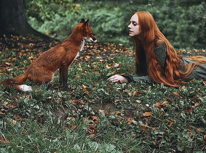 Παραμυθένια πορτραίτα με κοκκινομάλλες και μια κόκκινη αλεπού (7)