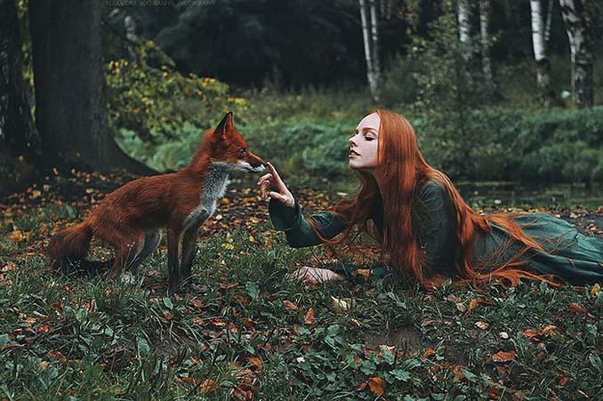 Παραμυθένια πορτραίτα με κοκκινομάλλες και μια κόκκινη αλεπού (9)