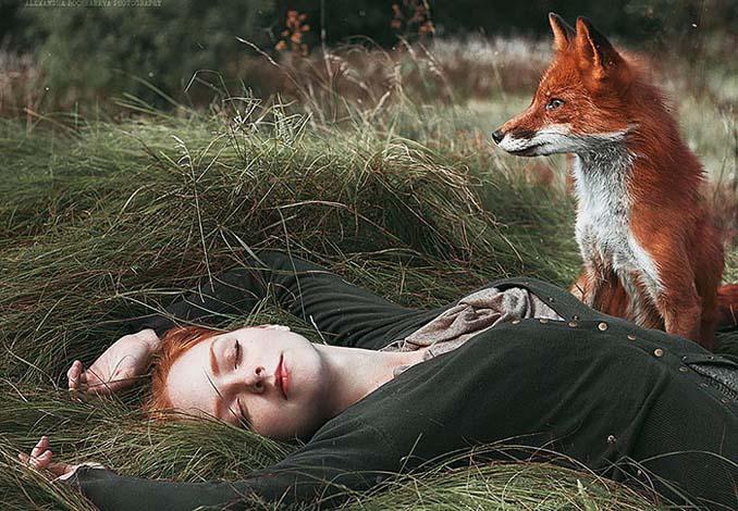 Παραμυθένια πορτραίτα με κοκκινομάλλες και μια κόκκινη αλεπού (10)