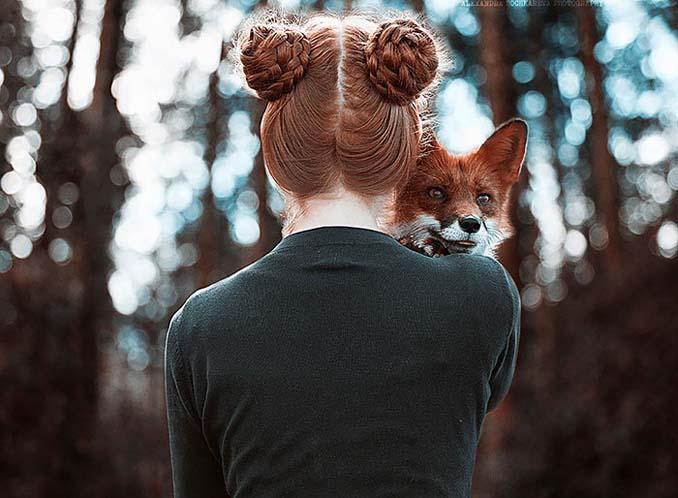 Παραμυθένια πορτραίτα με κοκκινομάλλες και μια κόκκινη αλεπού (11)