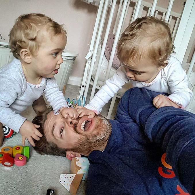 Πατέρας 4 κοριτσιών κατακτά το Instagram με τις τρελές φωτογραφίες της καθημερινότητας του (1)