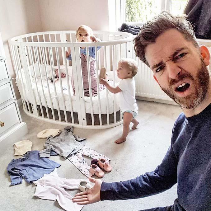 Πατέρας 4 κοριτσιών κατακτά το Instagram με τις τρελές φωτογραφίες της καθημερινότητας του (5)