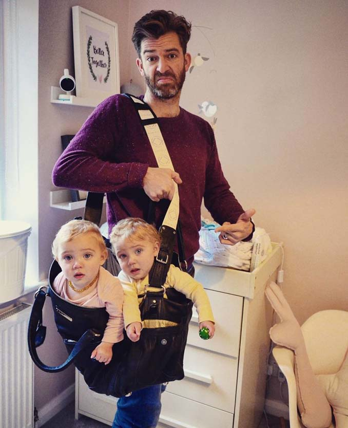 Πατέρας 4 κοριτσιών κατακτά το Instagram με τις τρελές φωτογραφίες της καθημερινότητας του (6)