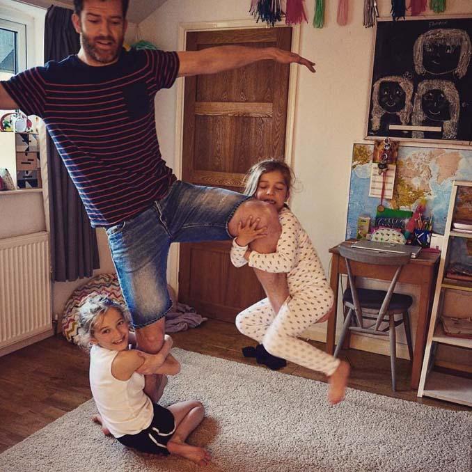 Πατέρας 4 κοριτσιών κατακτά το Instagram με τις τρελές φωτογραφίες της καθημερινότητας του (9)