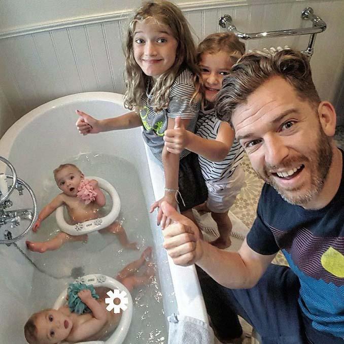 Πατέρας 4 κοριτσιών κατακτά το Instagram με τις τρελές φωτογραφίες της καθημερινότητας του (12)