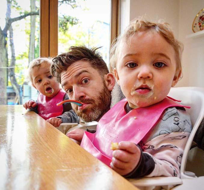 Πατέρας 4 κοριτσιών κατακτά το Instagram με τις τρελές φωτογραφίες της καθημερινότητας του (20)