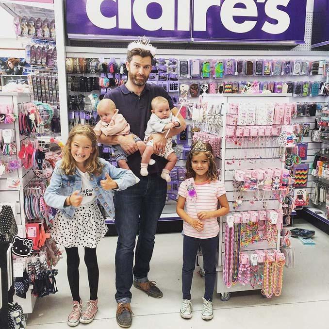 Πατέρας 4 κοριτσιών κατακτά το Instagram με τις τρελές φωτογραφίες της καθημερινότητας του (26)