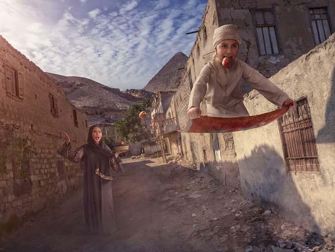 Πατέρας τοποθετεί τον γιο του σε απίστευτα σκηνικά χρησιμοποιώντας το Photoshop (2)