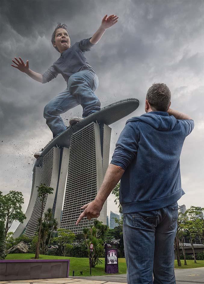 Πατέρας τοποθετεί τον γιο του σε απίστευτα σκηνικά χρησιμοποιώντας το Photoshop (3)