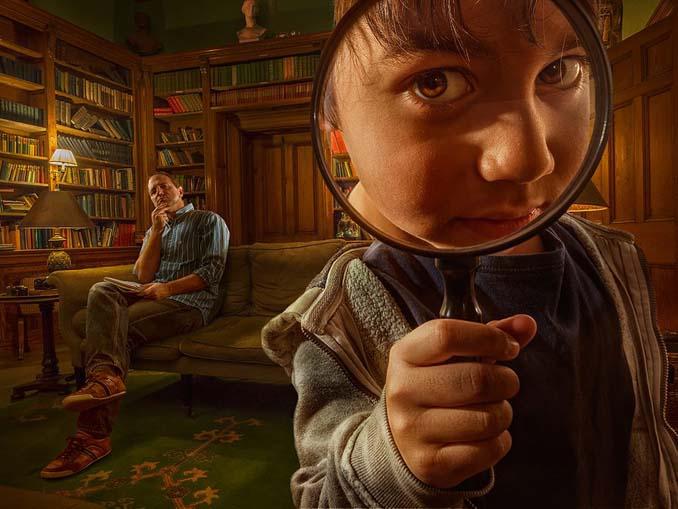 Πατέρας τοποθετεί τον γιο του σε απίστευτα σκηνικά χρησιμοποιώντας το Photoshop (4)