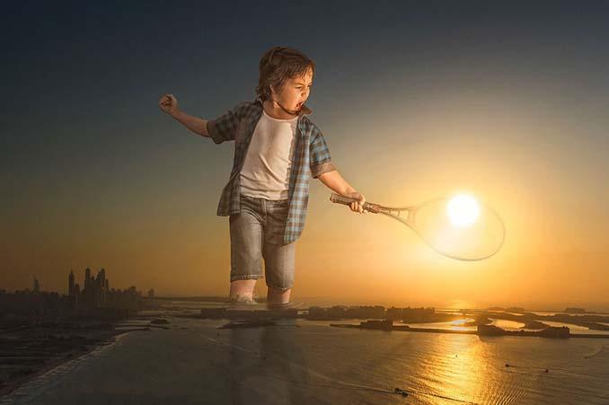 Πατέρας τοποθετεί τον γιο του σε απίστευτα σκηνικά χρησιμοποιώντας το Photoshop (14)