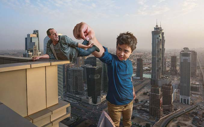 Πατέρας τοποθετεί τον γιο του σε απίστευτα σκηνικά χρησιμοποιώντας το Photoshop (16)