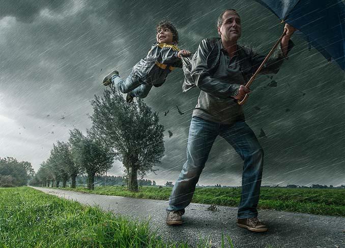 Πατέρας τοποθετεί τον γιο του σε απίστευτα σκηνικά χρησιμοποιώντας το Photoshop (17)