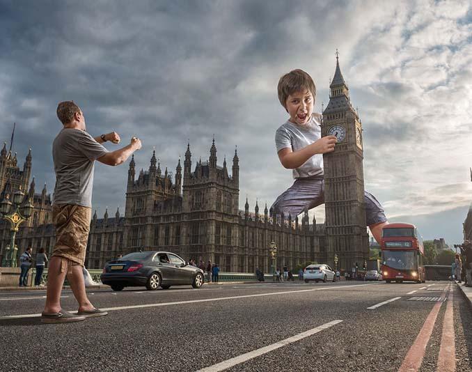 Πατέρας τοποθετεί τον γιο του σε απίστευτα σκηνικά χρησιμοποιώντας το Photoshop (18)