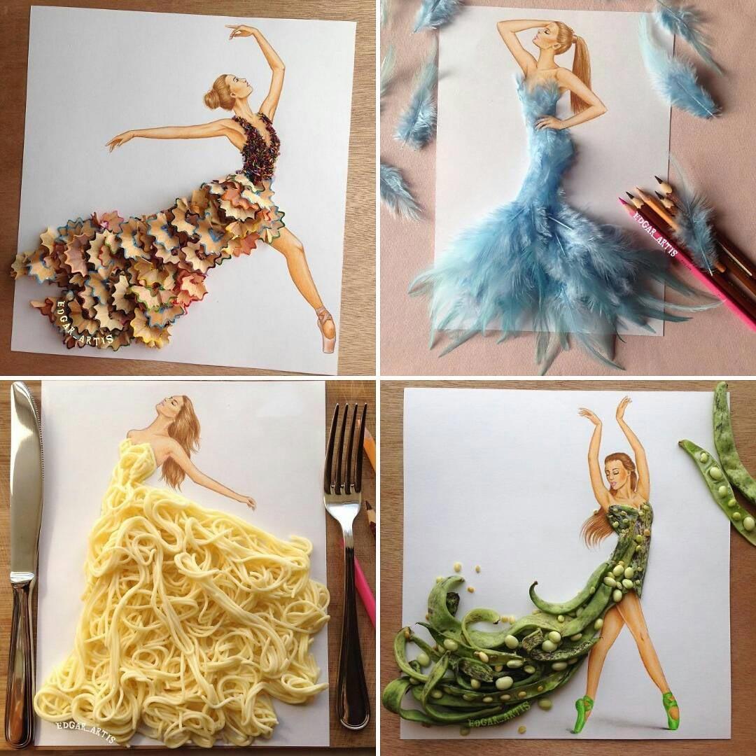 Δημιουργώντας εκπληκτικά φορέματα με καθημερινά αντικείμενα   Φωτογραφία της ημέρας