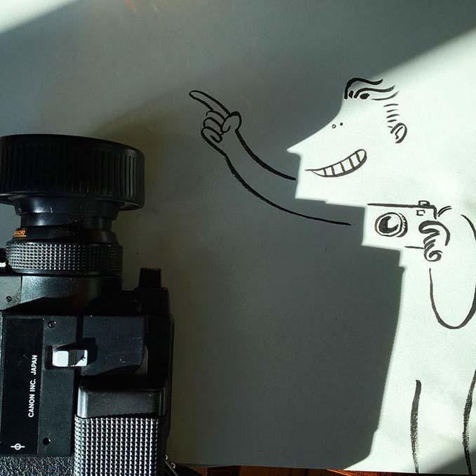 Σκιές που μετατράπηκαν σε διασκεδαστικά σκίτσα (3)