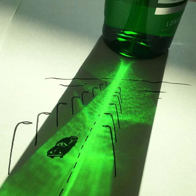 Σκιές που μετατράπηκαν σε διασκεδαστικά σκίτσα (11)