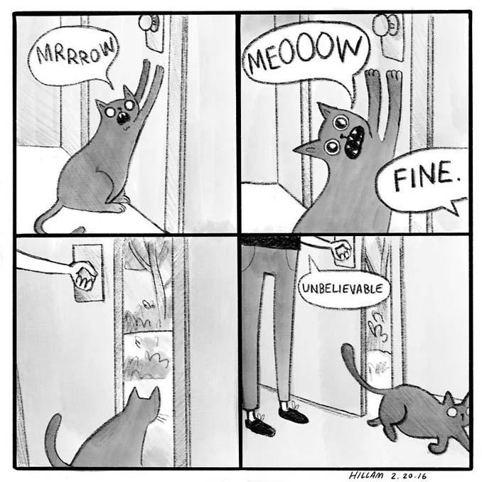 Σκιτσογράφος δείχνει πώς είναι να ζεις με γάτες (3)