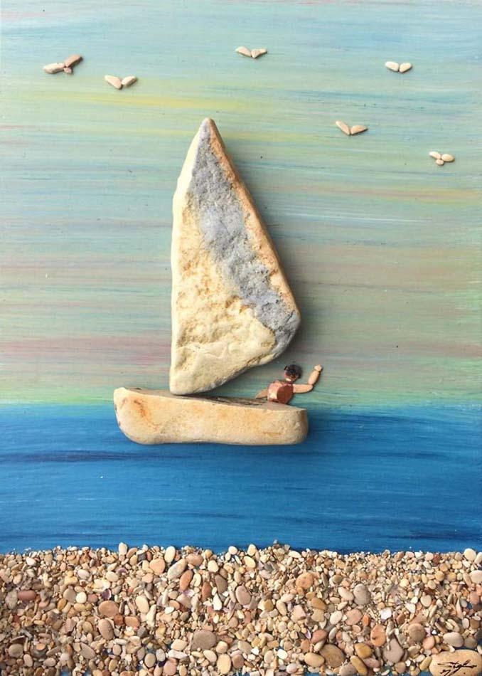Τέχνη με βότσαλα από την παραλία (1)
