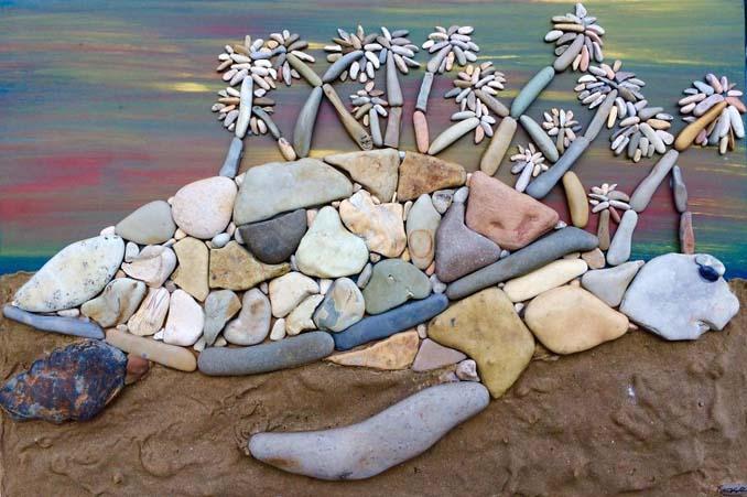 Τέχνη με βότσαλα από την παραλία (3)