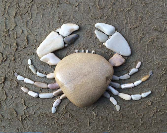 Τέχνη με βότσαλα από την παραλία (4)