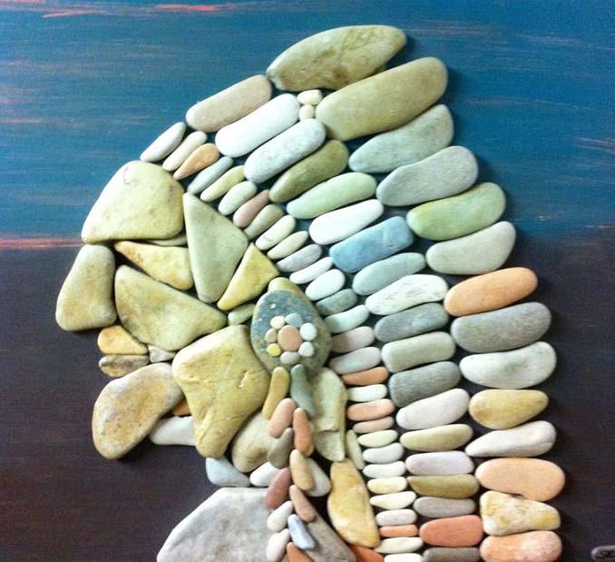Τέχνη με βότσαλα από την παραλία (14)