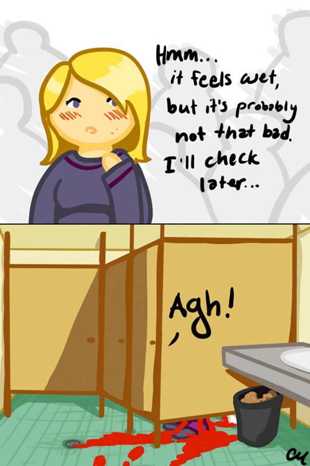 Χιουμοριστικά σκίτσα για την περίοδο που μόνο οι γυναίκες θα καταλάβουν (14)