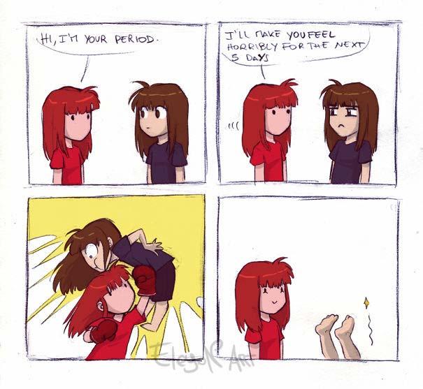 Χιουμοριστικά σκίτσα για την περίοδο που μόνο οι γυναίκες θα καταλάβουν (17)
