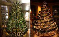 Χριστουγεννιάτικα δένδρα με μπουκάλια κρασιού