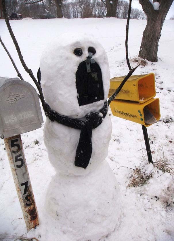 Δημιουργικοί χιονάνθρωποι που χαρίζουν άφθονο γέλιο (2)