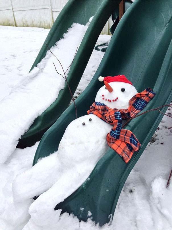 Δημιουργικοί χιονάνθρωποι που χαρίζουν άφθονο γέλιο (16)