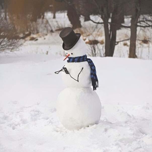 Δημιουργικοί χιονάνθρωποι που χαρίζουν άφθονο γέλιο (17)