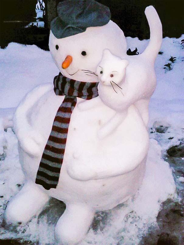 Δημιουργικοί χιονάνθρωποι που χαρίζουν άφθονο γέλιο (21)