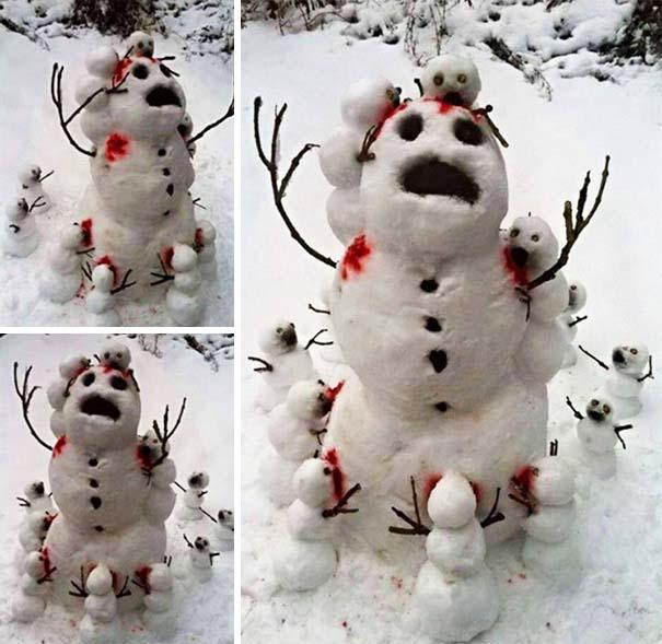 Δημιουργικοί χιονάνθρωποι που χαρίζουν άφθονο γέλιο (25)