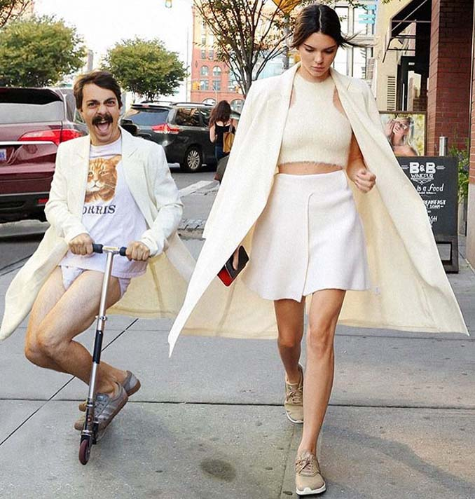 Εισβάλλει στις φωτογραφίες της Kendall Jenner με το Photoshop δίνοντας μια ξεκαρδιστική νότα (18)