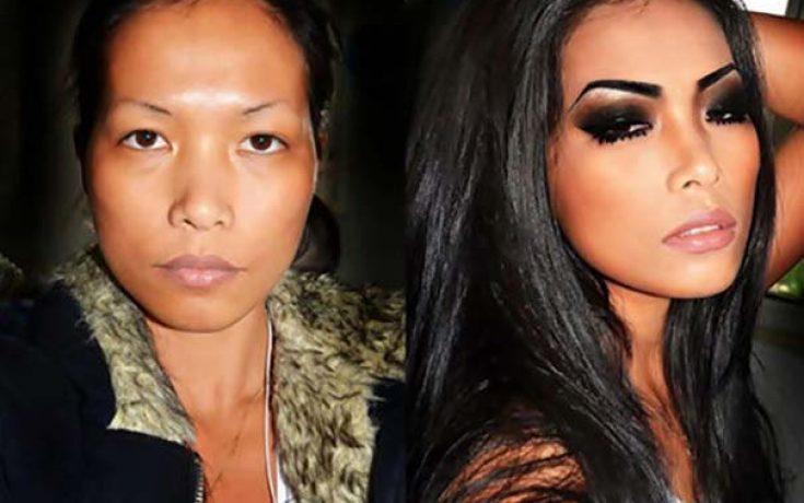 Γυναίκες με / χωρίς μακιγιάζ #24 (8)